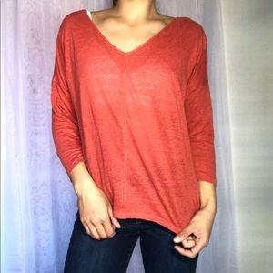 100% linen Ann Taylor 3/4 sleeve shirt
